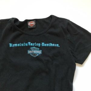 Womens Honolulu Harley Davidson Tee medium